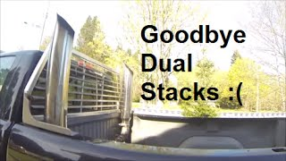Removing Dual Stacks and Making a Dump Pipe Exhaust - Build Day 6