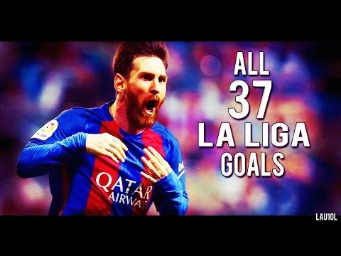 Lionel Messi - Pichichi ● All 37 La Liga Goals ● 2016-2017 ● With Commentary | HD
