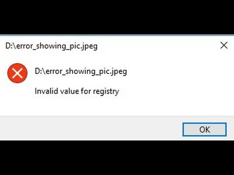 Fixing Windows Start menu - Invalid value for Registry (WINDOWS 10)