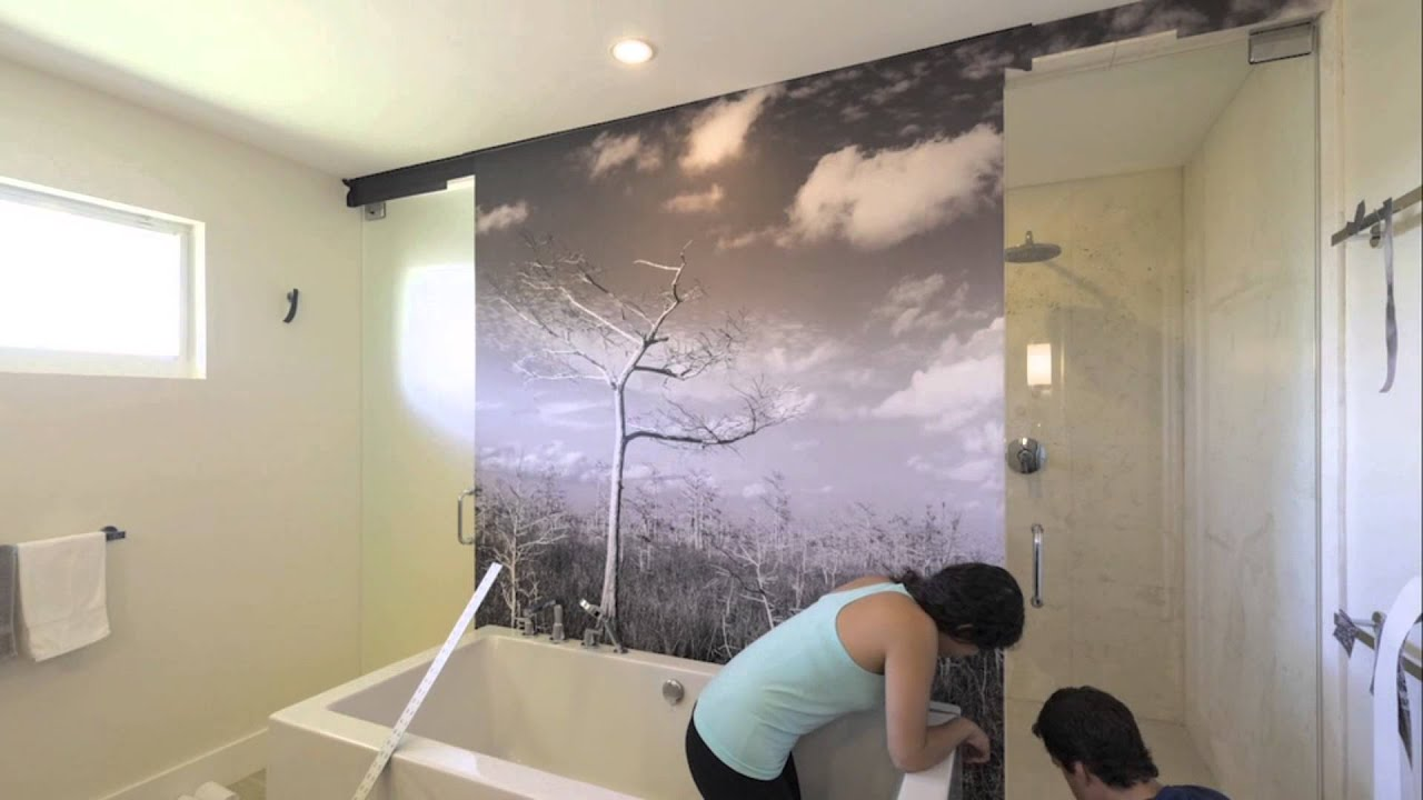 Self Adhesive Wall Mural Installation Short Version YouTube