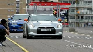 Nissan R35 GT-R + Nissan Skyline R34 V-Spec - PURE SOUND!!