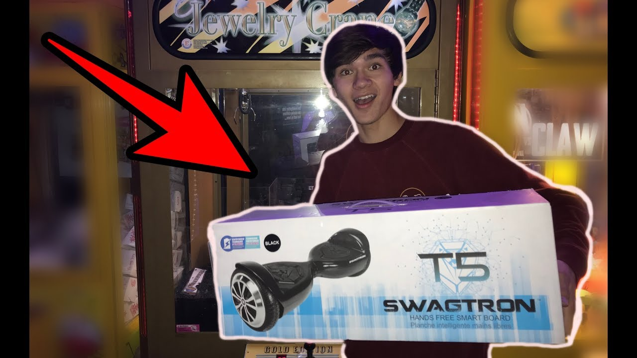 WON a HOVERBOARD from this CLAW MACHINE!!! | JOYSTICK