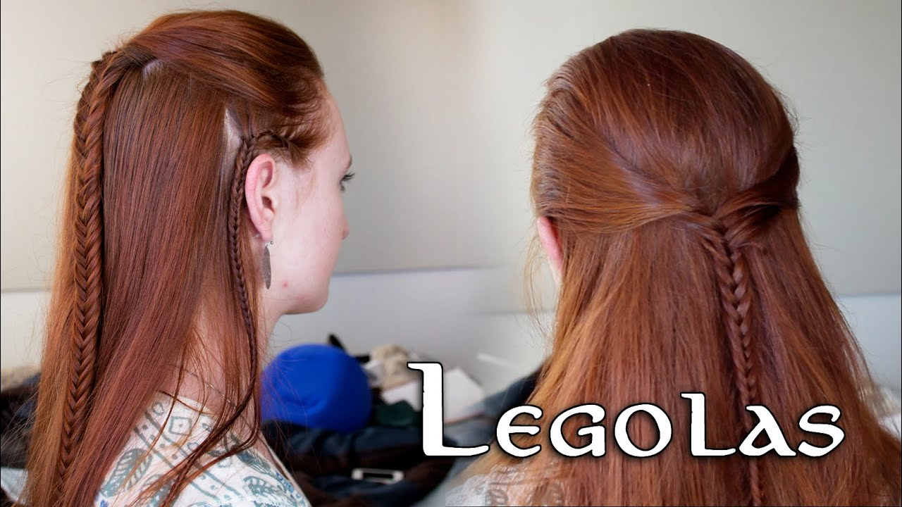 Braid hairstyle tutorial Legolas hair the hobbit - YouTube