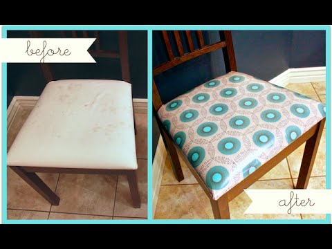 How To Reupholster Dining or Kitchen Chairs  YouTube