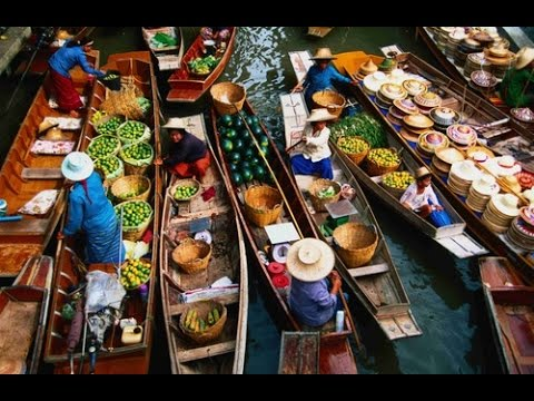 Trải nghiệm chợ nổi Damnoen Saduak floating market ở Thailand (Vlog)