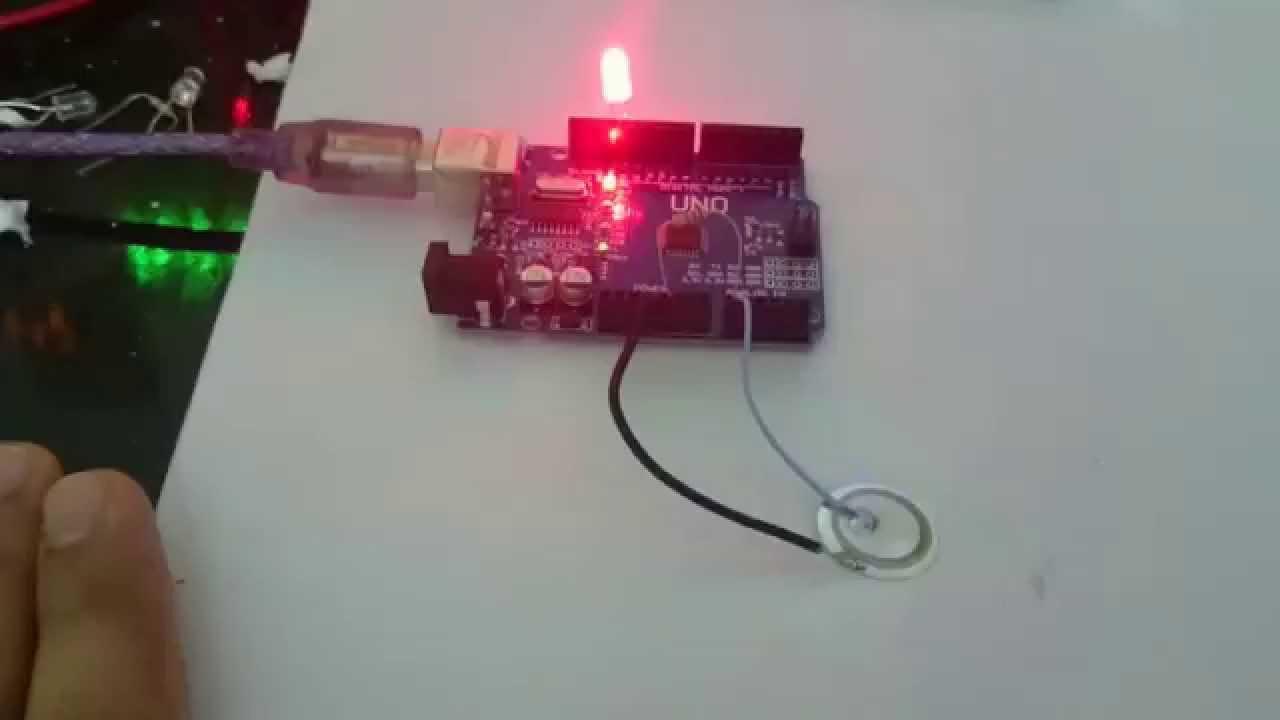 Knock Sensor Using Arduino And Piezo Element