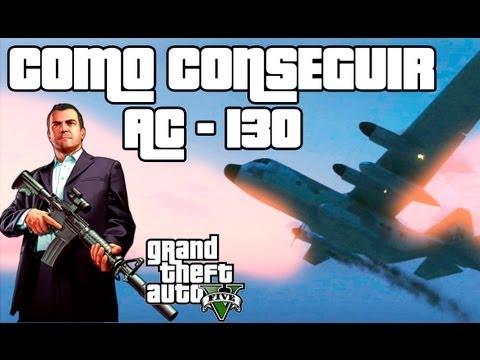 GTA V - Como conseguir AC-130 - El avion mas grande de GTA 5 - Avión titan