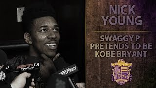 Lakers Extra: Nick Swaggy P Young Pretends He
