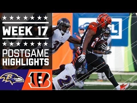Ravens vs. Bengals | NFL Week 17 Game Highlights