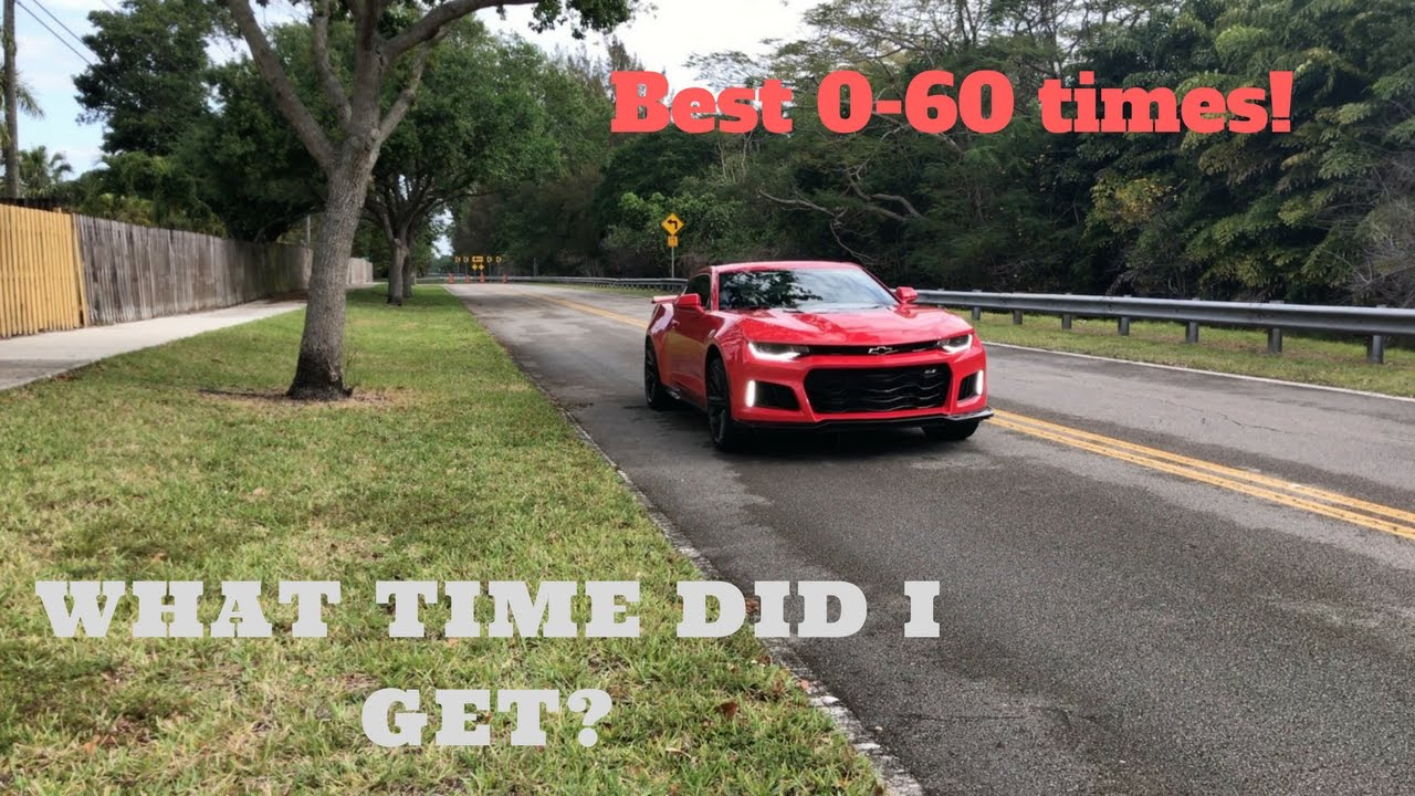 How To Get The Best 0 60 In A 2017 Camaro Zl1 Manual Launch Control No Lift Shift