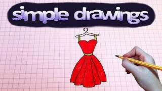 Simple drawings #56 How to draw red dress