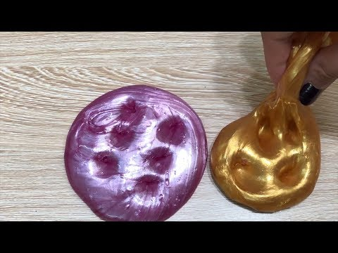 DIY Metallic Slimes! Pink, Gold, Crunchy Slimes! How to make Metallic Slimes | Tom Slime