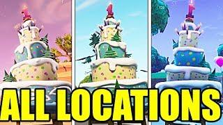 Fortnite Birthday Cake Challenge: ALL BIRTHDAY CAKE LOCATIONS [Guide]