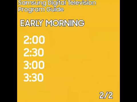 Samsung Digital Television Program Guide (2018 Asian Games, Jakarta Palembang 2018)