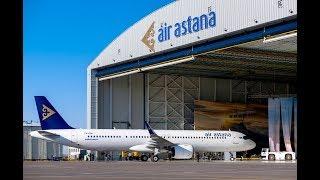 Новый авиалайнер Airbus A321LR прибыл в Казахстан