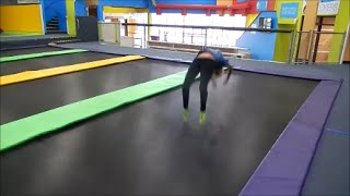 fun at the trampoline park d