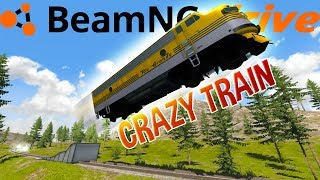 The Craziest Train Stunts and Crashes! - High Speed Train Locomotive - BeamNG Drive