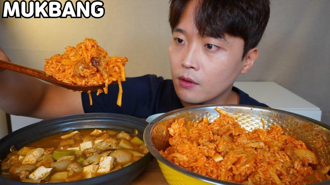 삼겹살+노각무침+무생채 비빔밥 오만둥이 된장찌개 먹방 Bibimbap & Doenjang-jjigae MUKBANG ASMR REAL SOUND EATING SHOW COOKING