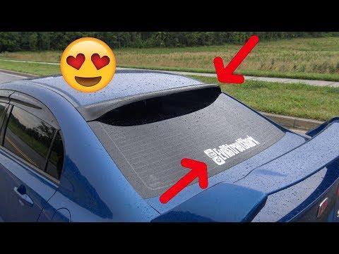 Roof Spoiler Install + New Decal - Honda Civic SI