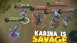 WHY I LOVE Karina! 3 Savages/Pentakills Gameplay Mobile Legends