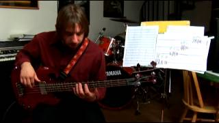 Scale Visuals of a B Flat Scale for Advanced Bass Guitar