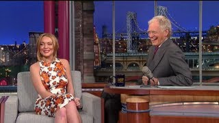 Lindsay Lohan Talks Rehab & Addiction with David Letterman