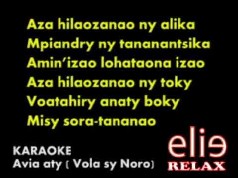 Elierelax  KARAOKE Avia aty Vola sy Noro