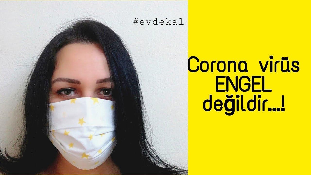 Evde Maske yapımı Kendinize steril ve şık bir Maske yapabilirsiniz. Corona virüsü ENGEL değildir...!