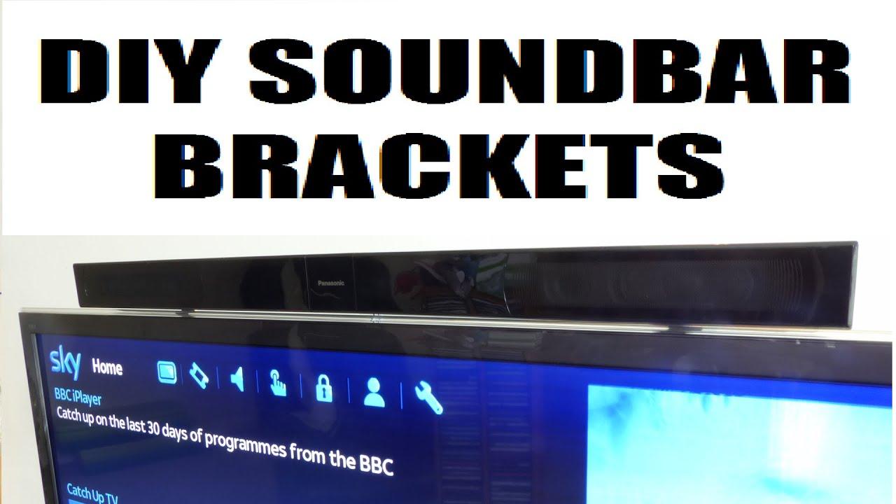 How To Make Cheap Amp Easy Diy Tv Soundbar Brackets Youtube