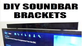 How to make cheap & easy diy tv soundbar brackets