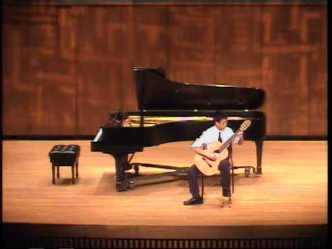 Andrew plays Nocturne at recital in Blair School of Music