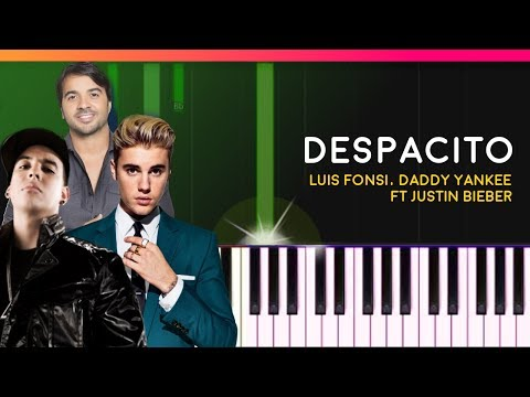 """""""Despacito"""" - Louis Fonsi Daddy Yankee Justin Bieber EASY Piano Tutorial - Chords  Cover"""