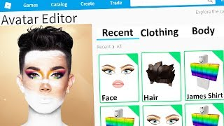MAKING JAMES CHARLES a ROBLOX ACCOUNT