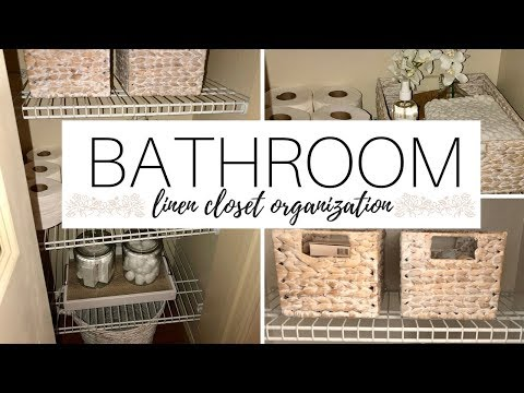 LINEN CLOSET ORGANIZATION IDEAS! MASTER BATHROOM DECOR! 2018
