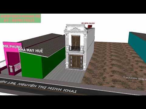 Thiết Kế  nhà 1 trệt 1 lầu, Chủ nhà Phan -Huế , Thủ Dầu Một, Bình Dương- PA3