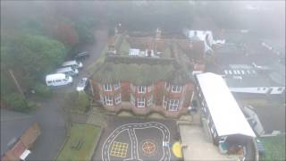 A bird's-eye view of Skippers Hill in Winter