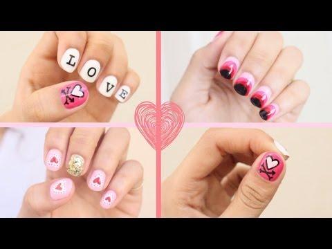 2016 Valentine's Day Nail Art: 3 Easy Designs!!!