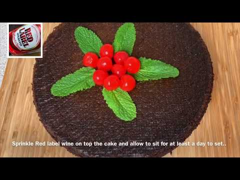 CARIBBEAN BLACK CAKE RECIPE || TERRI-ANN'S KITCHEN