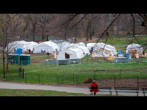 Central Park Transforms Into Coronavirus Field Hospital