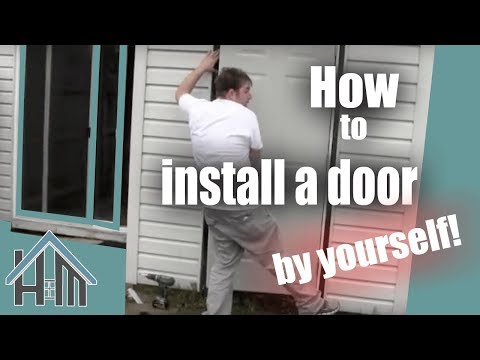 How to install an exterior door, pre-hung steel. Replace a door. The Home Mender
