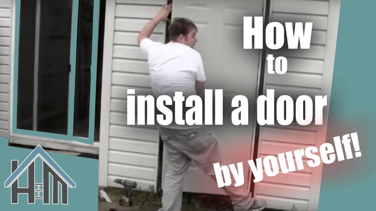 How To Install An Exterior Door Pre Hung Steel Replace A Door The