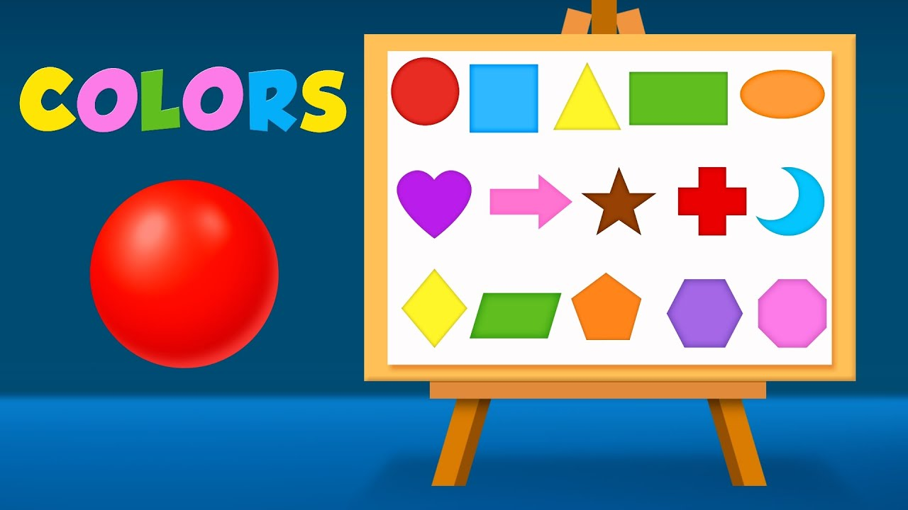 Shapes And Colors For Children To Learn With Color Balls