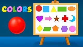 Shapes and Colors for Children to Learn with Color Balls and Surprise Eggs - Learning Videos