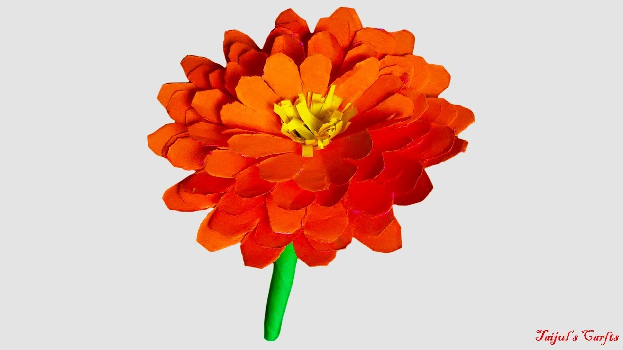 How To Make Paper Marigold Flower Origami Flower