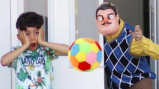 Jason lost ball at neighbor house