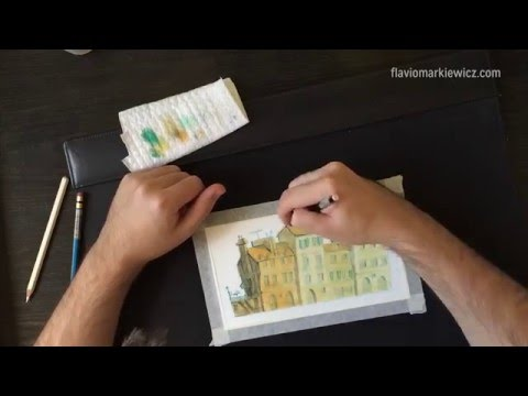 Parisian Landscape – A Watercolor Speedpaint by Flávio Markiewicz