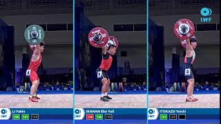 Snatch lifts comparison - IWF WC Pattaya - Men's -...