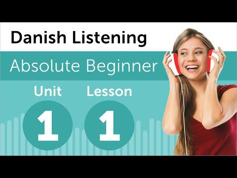 Luyện nghe tiếng Đan Mạch A1- Bài 1: Tại nhà sách