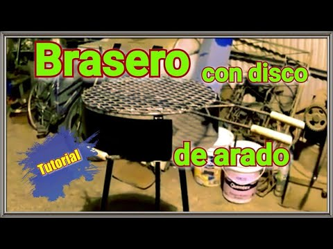 diy como hacer un brasero con disco de arado youtube. Black Bedroom Furniture Sets. Home Design Ideas