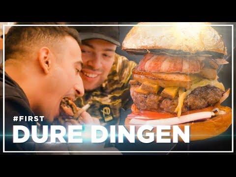 QUCEE en NESIM eten DUURSTE HAMBURGER ter WERELD: DURE DINGEN #FIRST